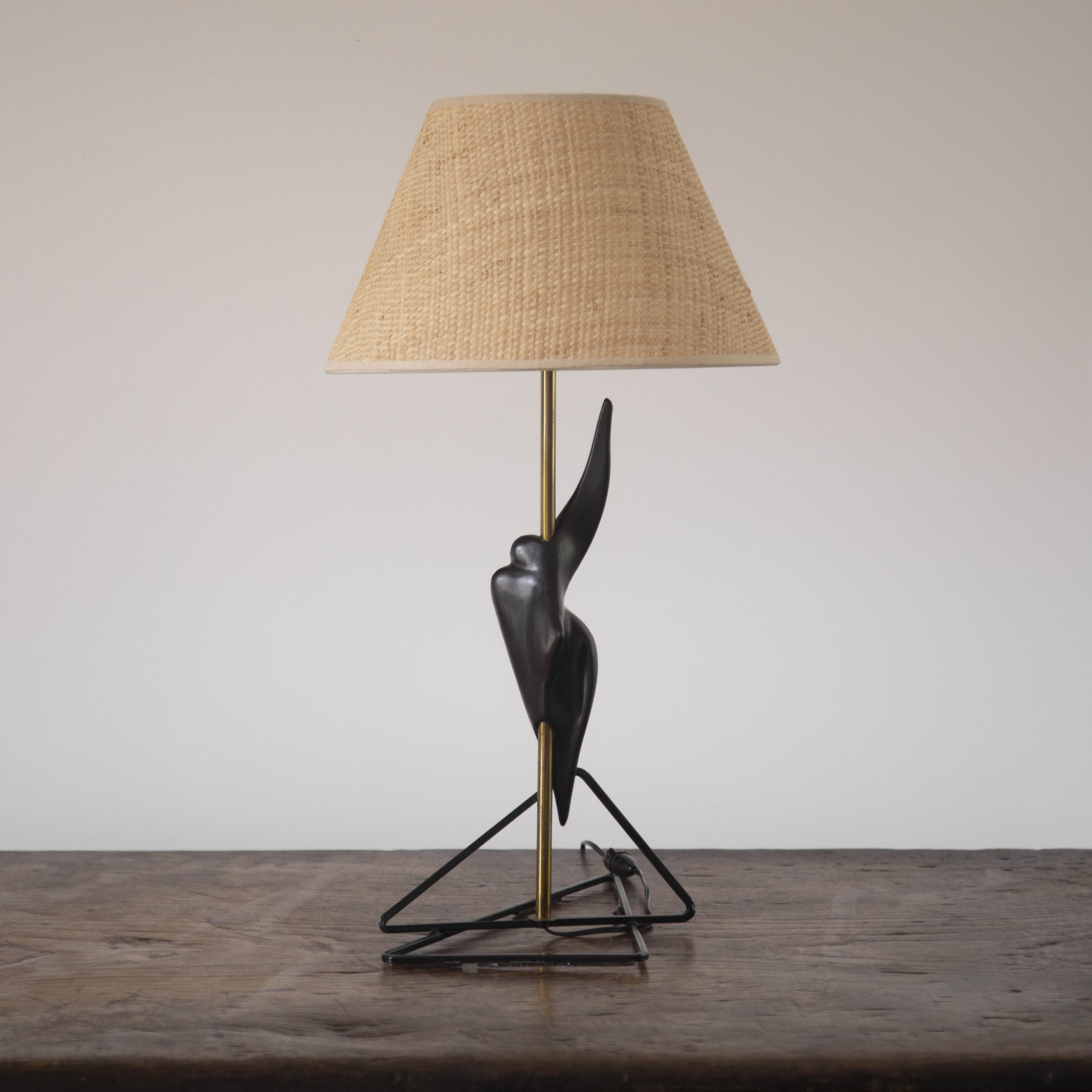 Free Form Ceramic Lamp in the Manner of Georges Jouve