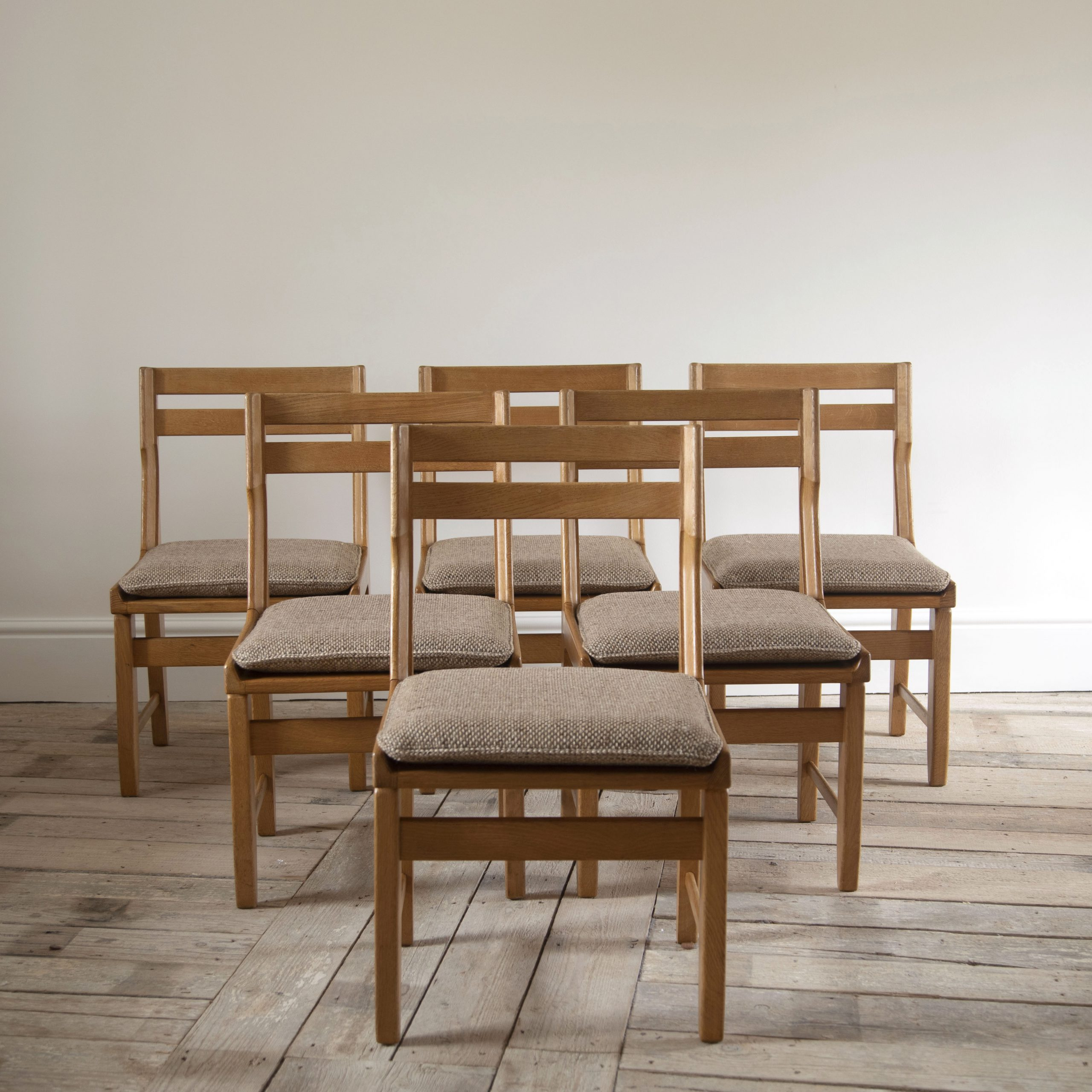 Set of Six Guillerme et Chambron Chairs