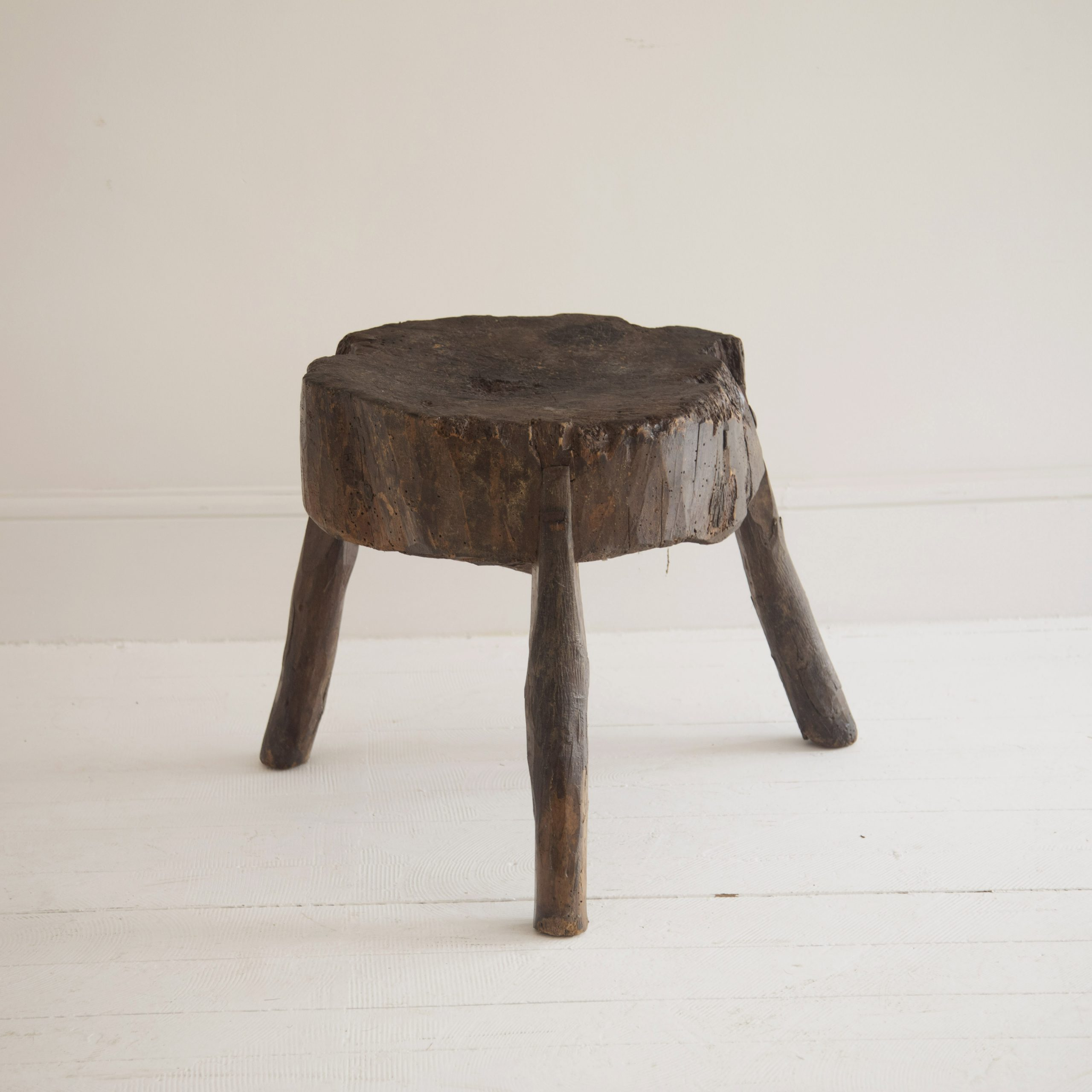 Primitive Chopping Block Side Table