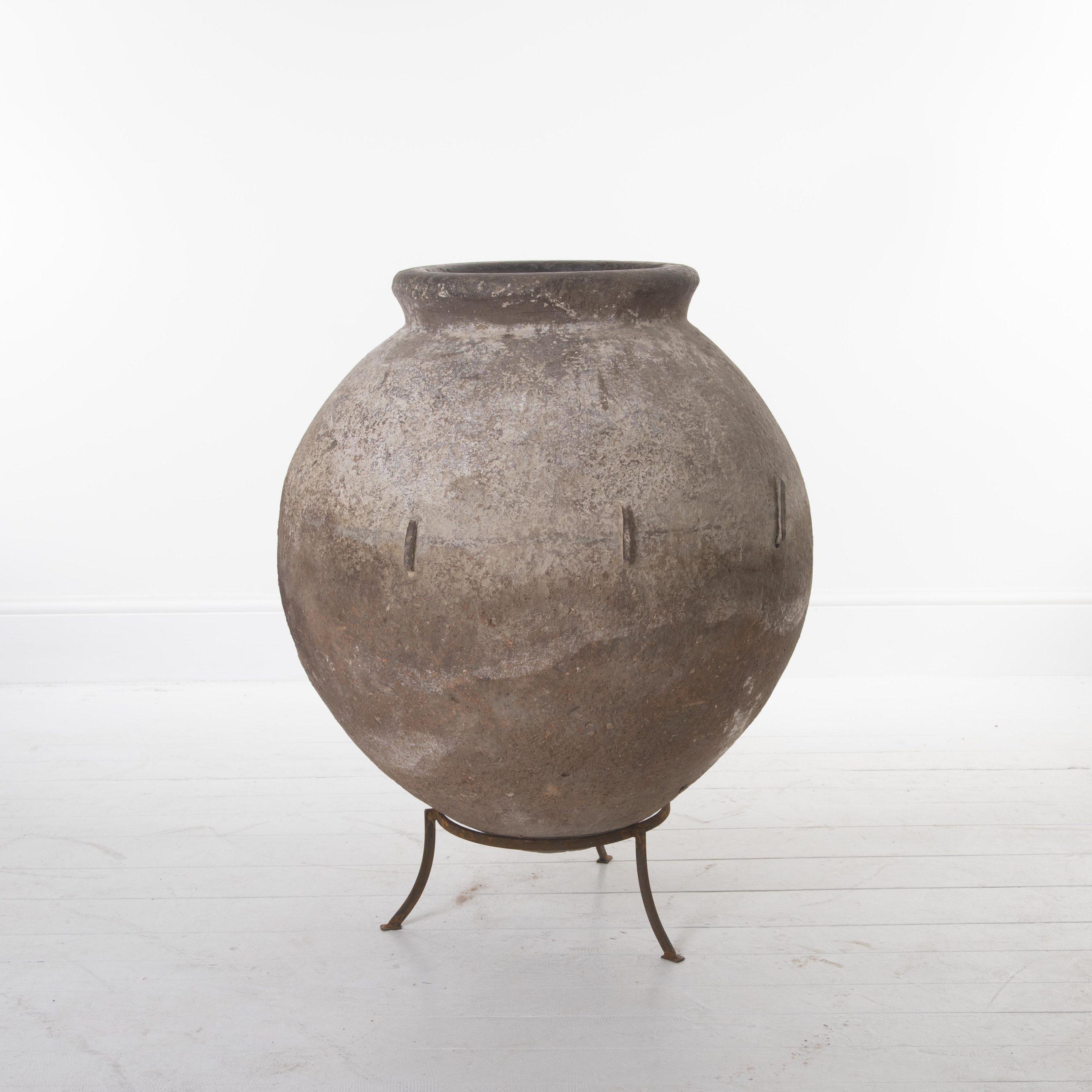 Greek olive oil pot