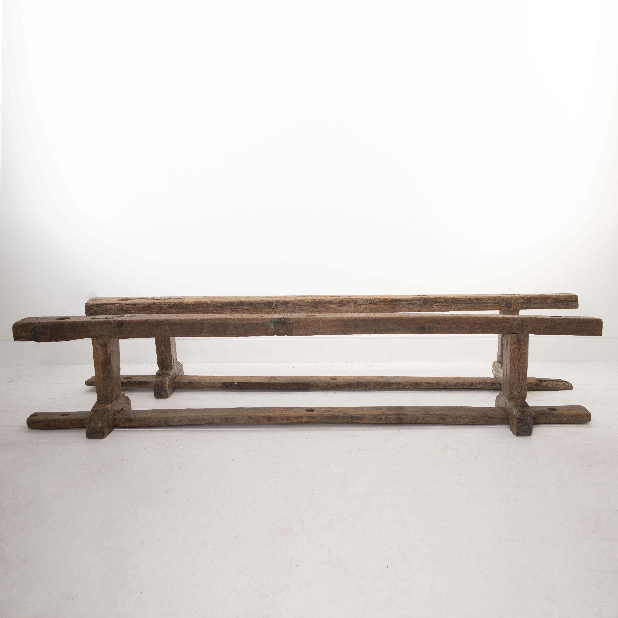 Pair of Spanish benches