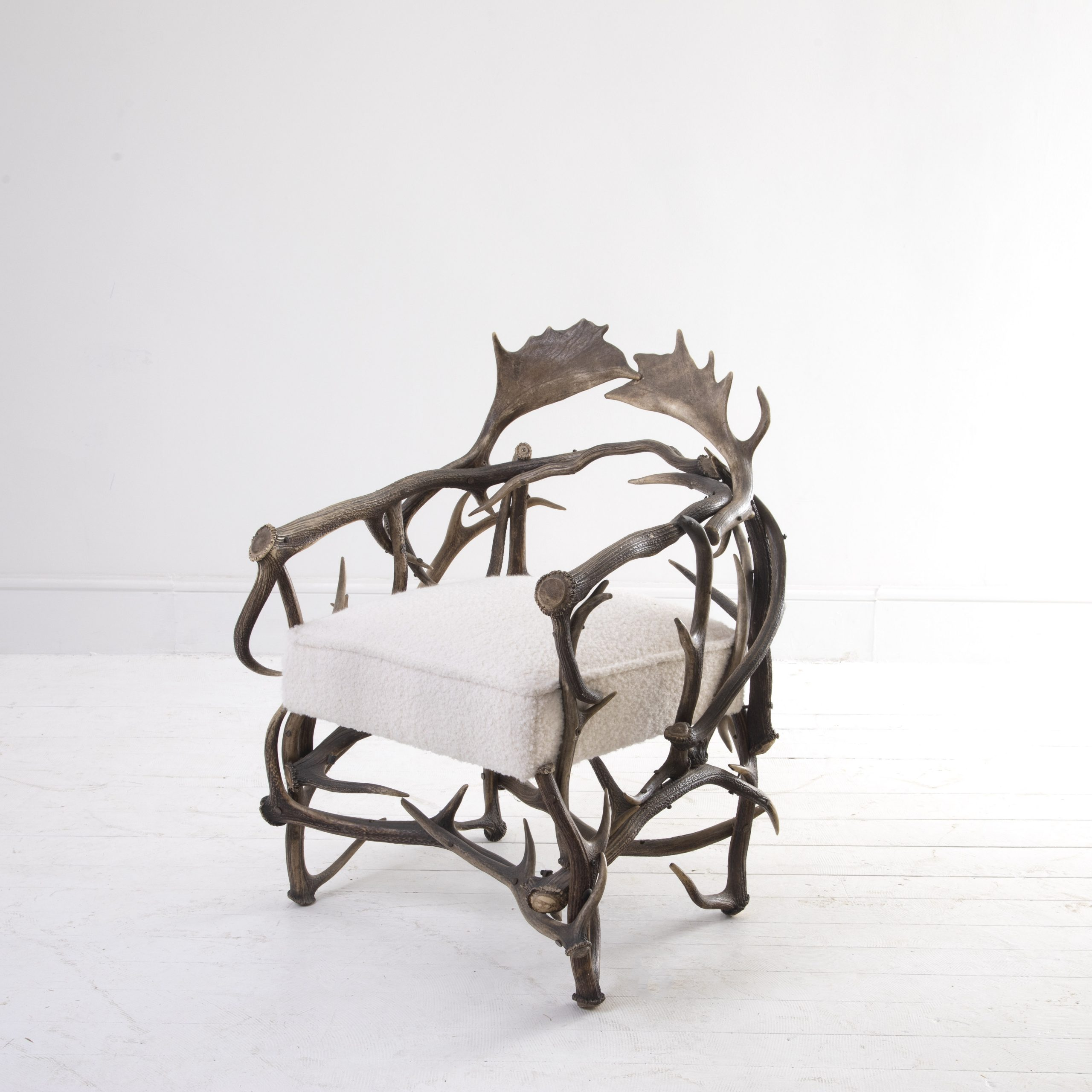 Late 19th Century English Antler Chair